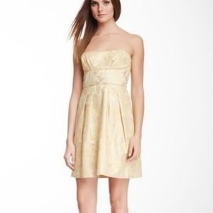 BCBG Max Azria Mabel Yellow Strapless Dress Size 0